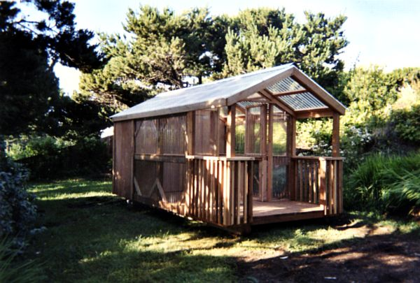 8x16 Greenhouse Package With Shed With Porch
