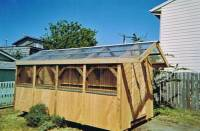 8x16 half panal shed w/ 2' overhang