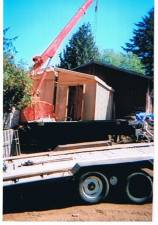 12x16 modular being delivered